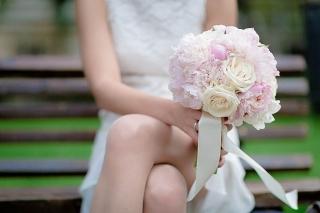 булчински букет в розово, декорация на сватбена агенция Приказен ден, сватбен агент Мариела Уилсън