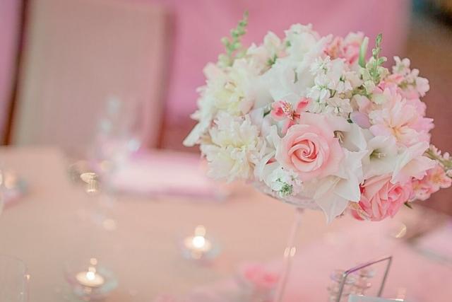 декорация за сватба в розово, декорация на сватбена агенция Приказен ден, сватбен агент Мариела Уилсън