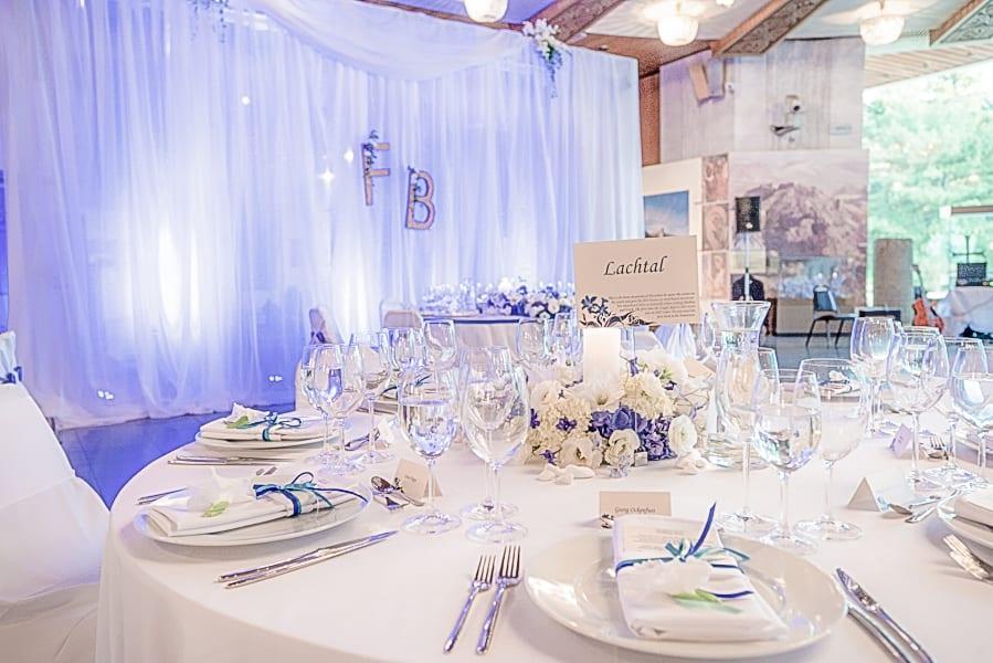 електрик синя сватба, декорация на сватбена агенция Приказен ден, сватбен агент Мариела Уилсън