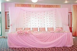 романтична розова сватба, декорация на сватбена агенция Приказен ден, сватбен агент Мариела Уилсън
