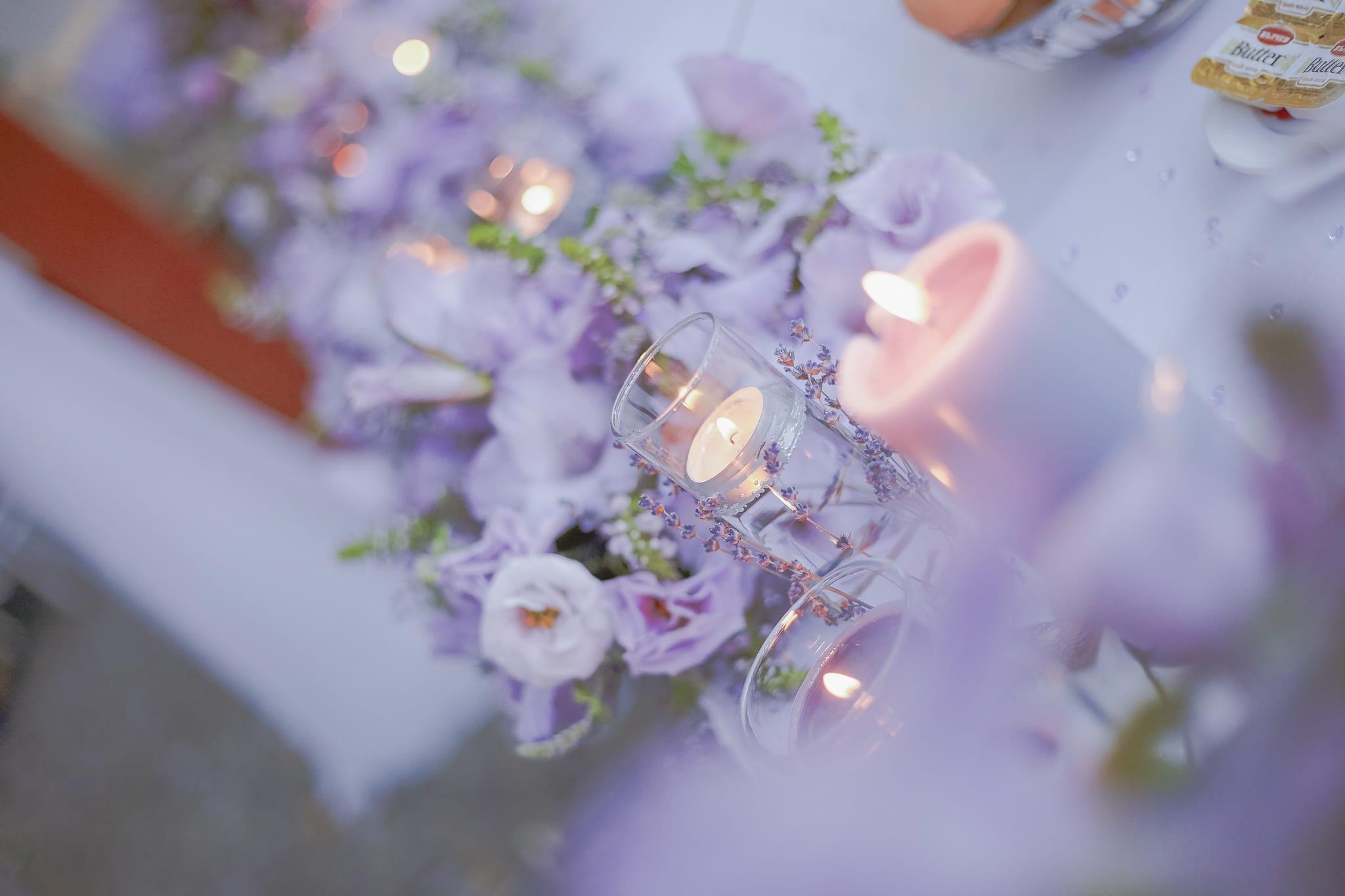 сватба в прованс френски стил, сватбени свещи, декорация на сватбена агенция Приказен ден, сватбен агент Мариела Уилсън