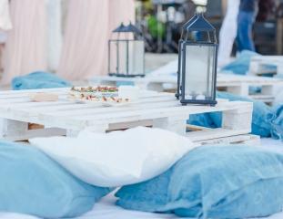 сватба на брега на морето, сватба на плажа, декорация на сватбена агенция Приказен ден, сватбен агент Мариела Уилсън