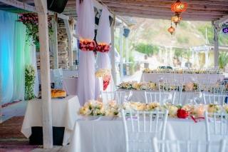 сватба на плажа Тракийски скали голф, сватба на плаж Бендида, сватба на морето, декорация на сватбена агенция Приказен ден, сватбен агент Мариела Уилсън