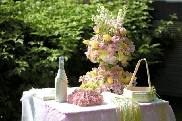 сватбена гражданска церемония, цветя за гражданска сватбена церемония, декорация на сватбена агенция Приказен ден, сватбен агент Мариела Уилсън