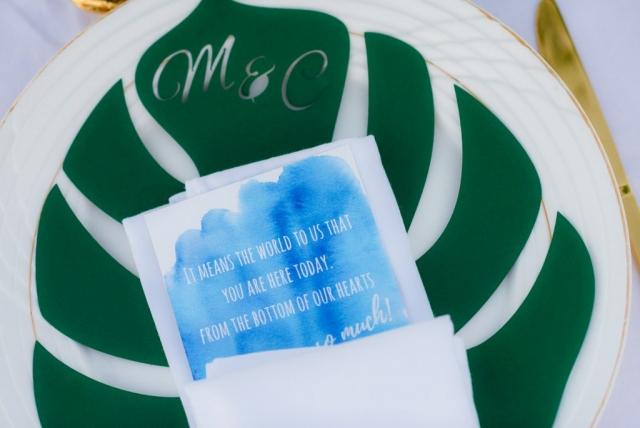 сватбени елементи, меню за гостите на сватбата, картичка за благодаря на сватба, декорация на сватбена агенция Приказен ден, сватбен агент Мариела Уилсън