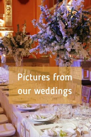 Pictures from our weddings