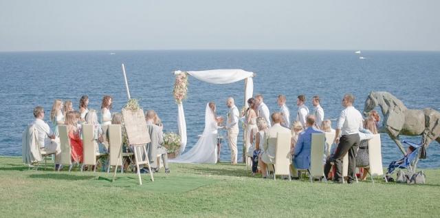 сватба на морето, хотел Анел Созопол, декорация на сватбена агенция Приказен ден, сватбен агент Мариела Уилсън